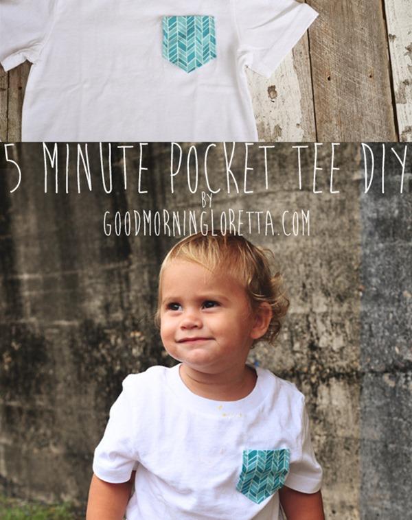 b09a7337b4c Pocket Tee DIY Tutorial toddler blue chevron t-shirt good morning loretta  lynn sewing easy