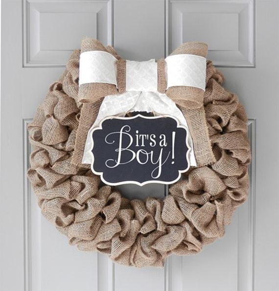 baby hospital wreath