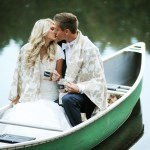 Romantic Wedding Canoe Pictures
