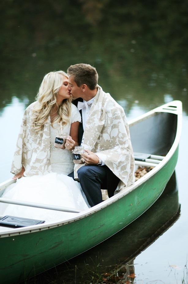 Bride Groom Canoe