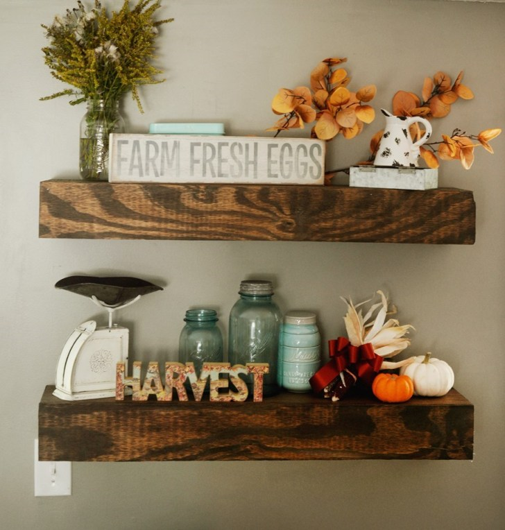 DIY floating rustic shelves farmhouse how to
