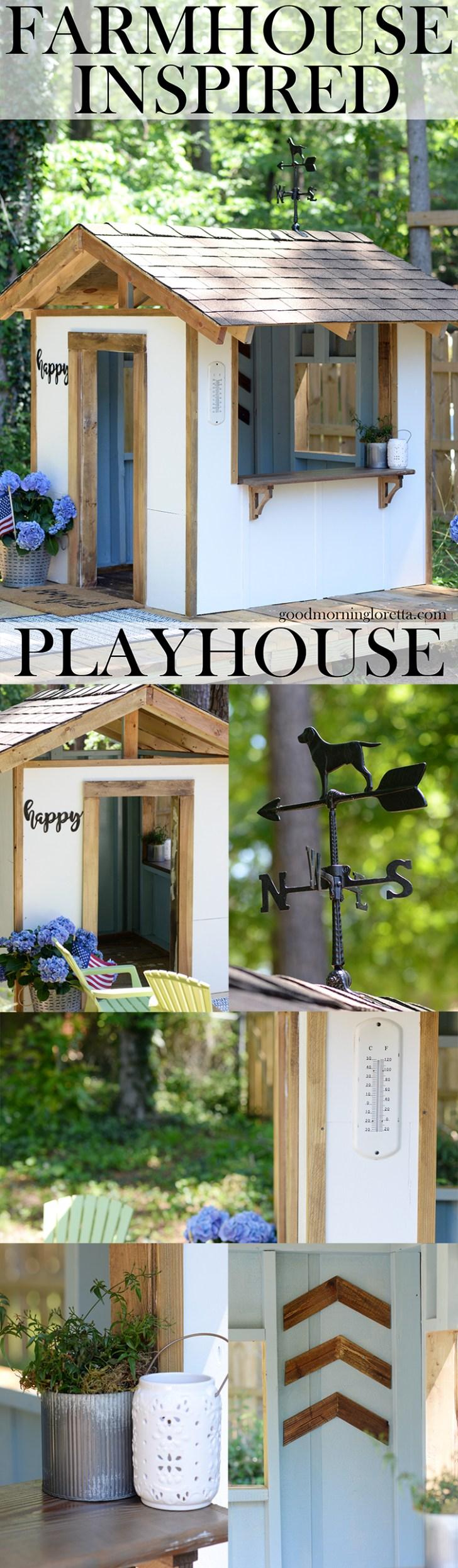 diy farmhouse style playhouse plans part 3 of 3 u2013 good morning