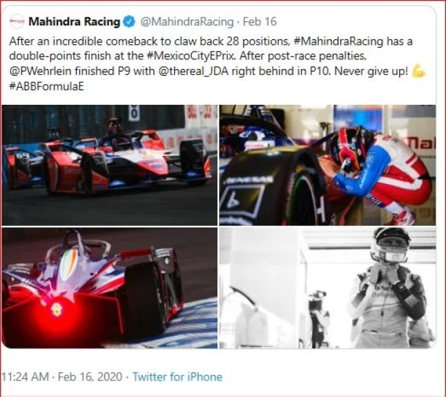 Mahindra Racing - Incredible Come Back