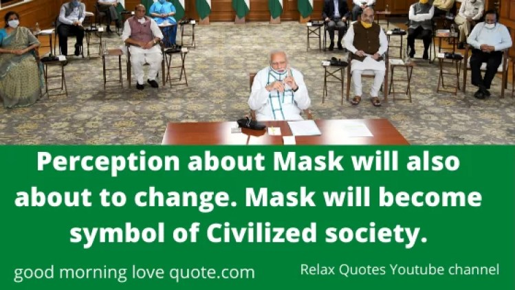Narendra Modi Quotes Messages Motivational Inspirational on Gamcha and Masks during Covid 19 Corona virus April 2020 Mann ke baat