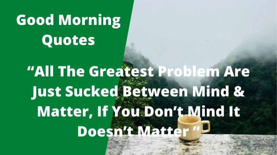 Good Morning Quotes Image 1