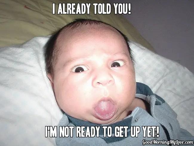 Funny Good Morning Meme_Strange Weird Baby Face
