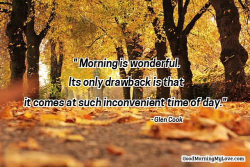Good Morning Quotes Trees ...