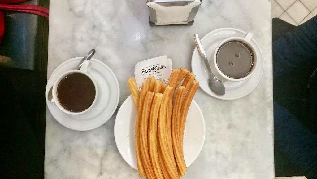 chocolaterie san gines churros chocolat visiter madrid