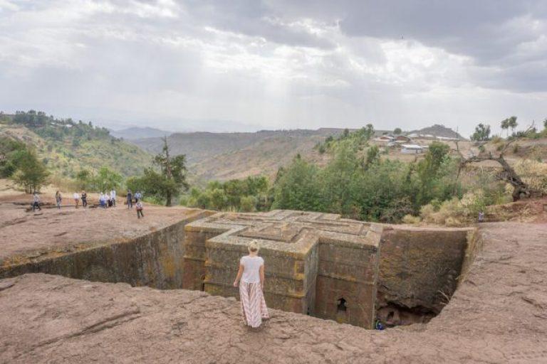 Ethiopië reizen rotskerken Lalibela St. George