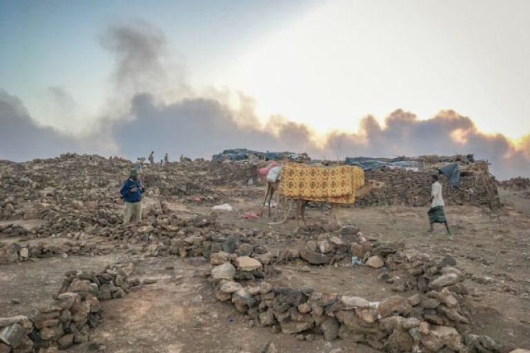 Ethiopië reist naar het vulkaankamp Erta Ale