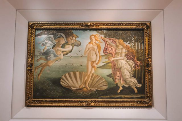 Attracties in Florence Uffizi Botticelli Venus