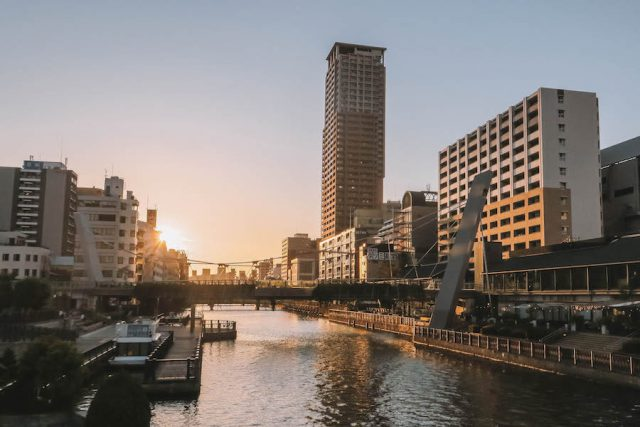 Osaka zonsondergang