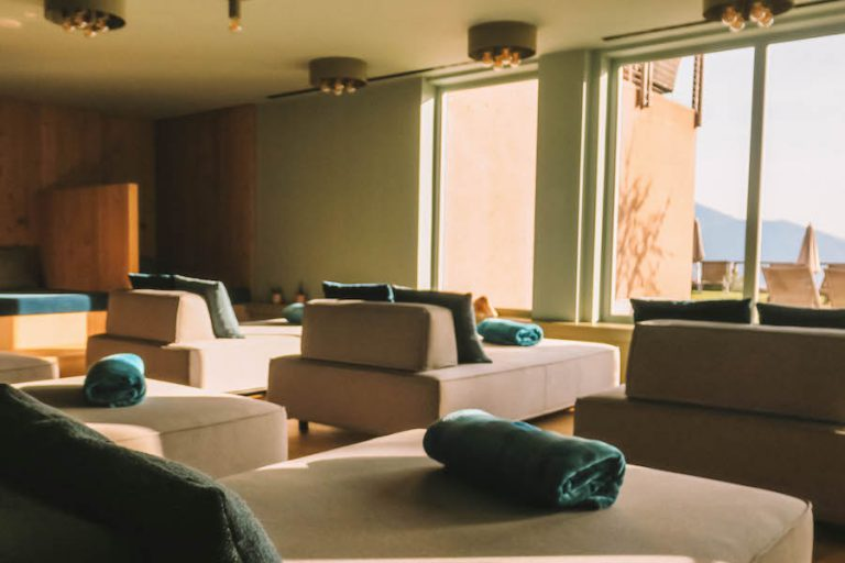 Hotel Belvedere Jenesien ontspanningsruimte