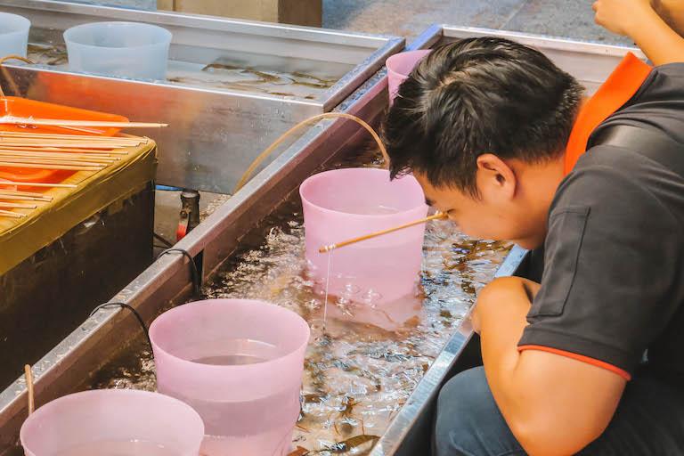 Shilin Night Market garnalenvissen