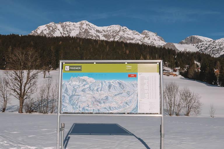 Langlaufen Oostenrijk Ramsau-kaart