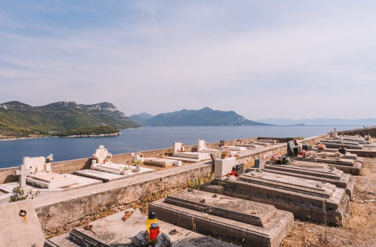 Begraafplaats Peljesac Kroatië