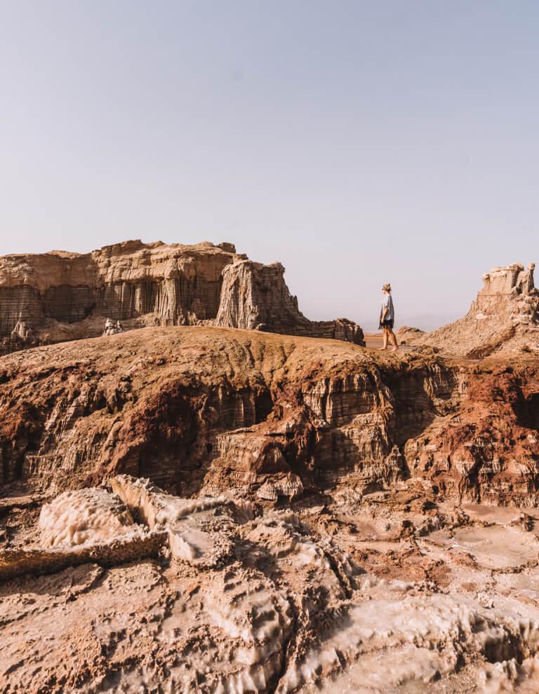 Dallol vulkaan Danakil Desert Salt Canyon