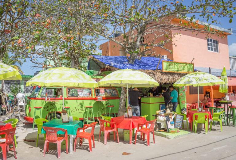 Sapbar in het centrum van Holbox Mexico