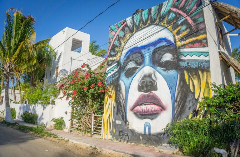 Isla Holbox Mexico straatkunst