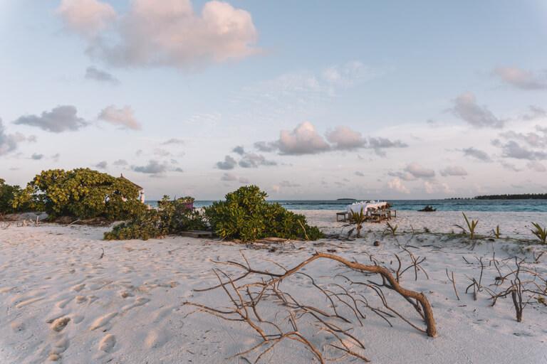 Reethi Beach Resort Moonlight Dinner Maldives Islands