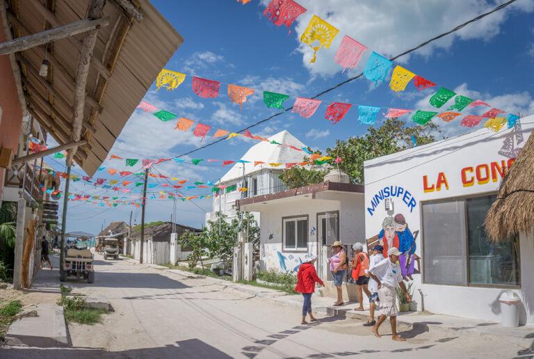 Straatbeeld van het eiland Mexico