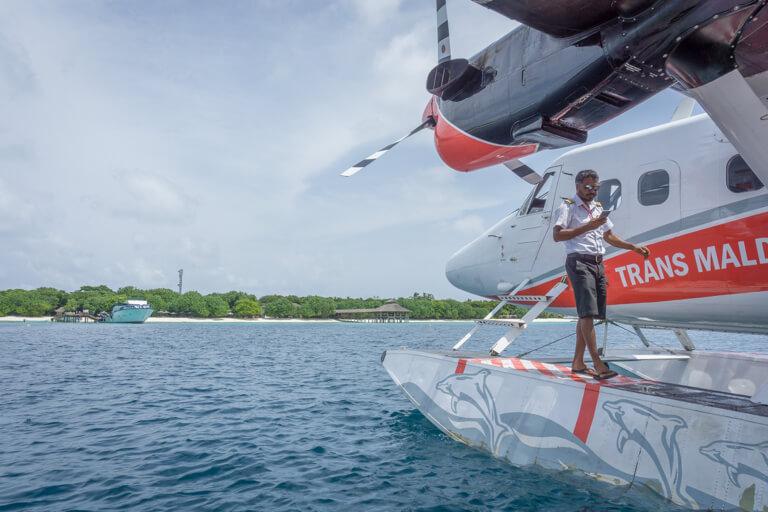 Watervliegtuig Maldiven eilanden