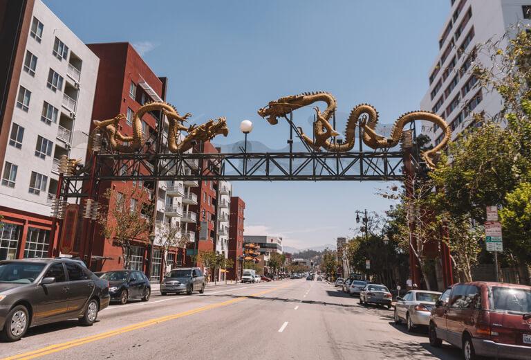 Chinatown LA drakeningang
