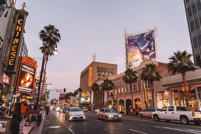 Nachtleven van Hollywood Boulevard