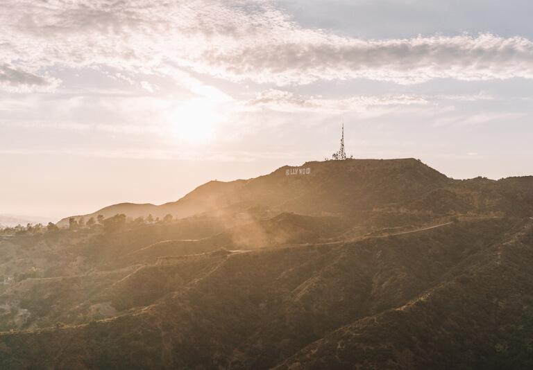 Hollywood Hills zonsondergang