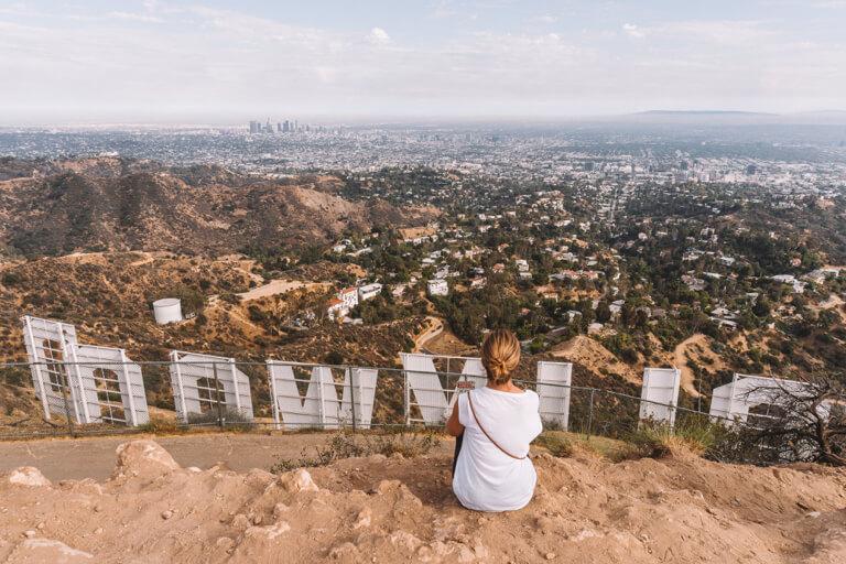 Bezienswaardigheden in Los Angeles Hollywood ondertekenen Mount Lee-letters