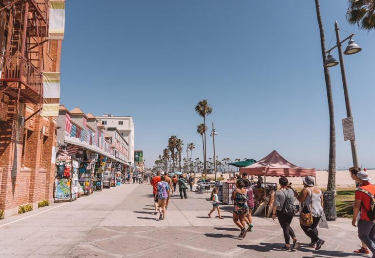 Attracties in Los Angeles Venice Beach Boardwalk