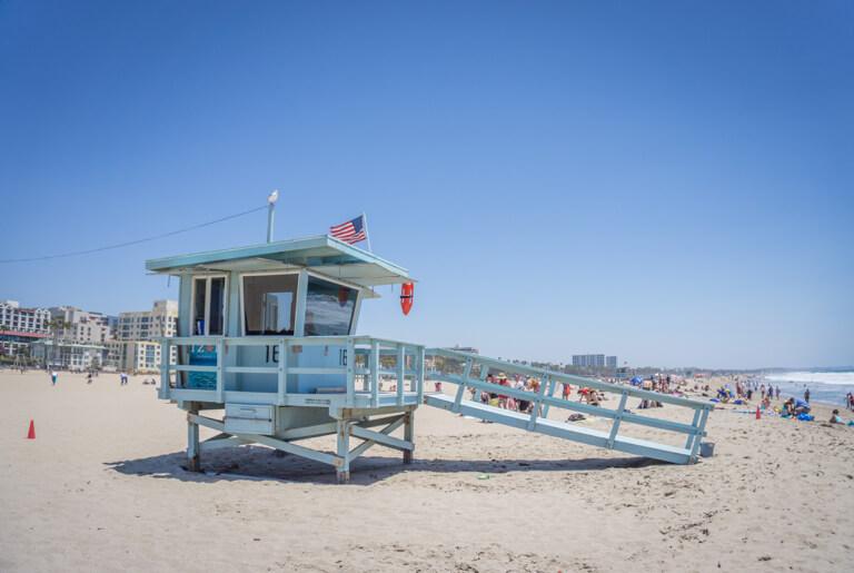 Santa Monica State Beach Lifeguard Haeuschen