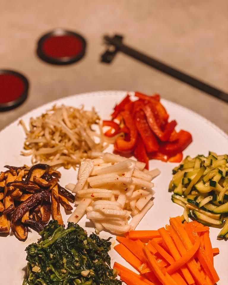 Bibimbap recept groenten