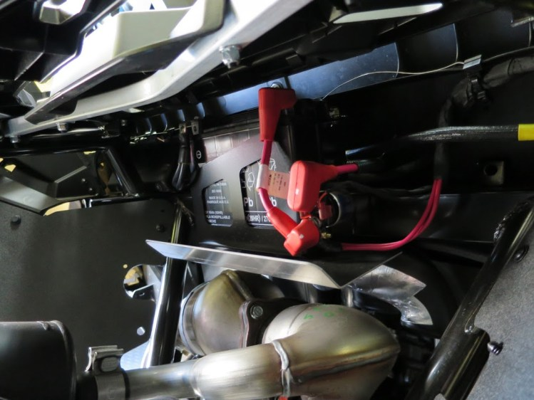 ATV or side by side just clicks rear end battery and starter relay