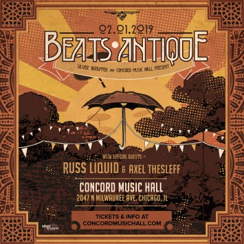 Beats Antique with Russ Liquid & Axel Thesleff @ Concord Music Hall [GIVEAWAY]