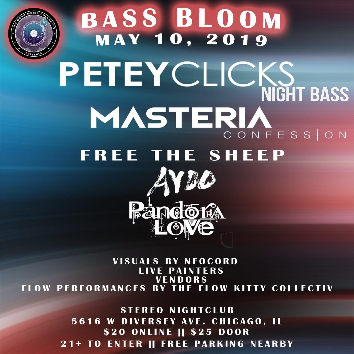 The Good Music Collectiv Presents: Bass Bloom #3 ft. Petey Clicks, MASTERIA, Free The Sheep, AYOO, Pandora Love & more!
