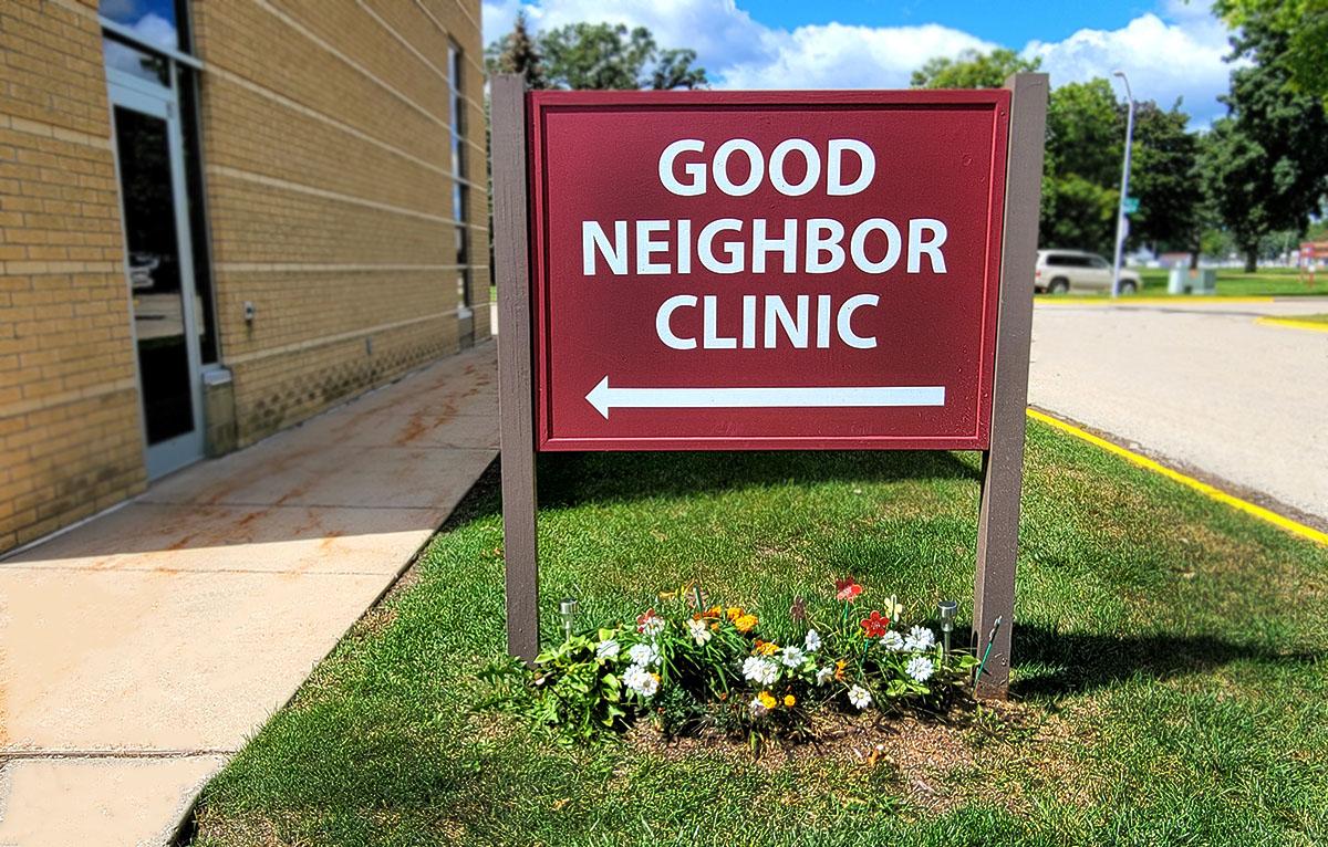 Good Neighbor Clinic Sign 2021