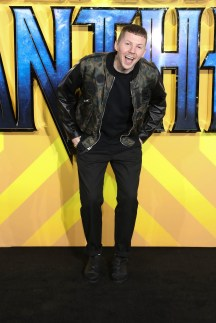 """LONDON, ENGLAND - FEBRUARY 08: Professor Green attends the European Premiere of Marvel Studios' """"Black Panther"""" at the Eventim Apollo, Hammersmith on February 8, 2018 in London, England. (Photo by Gareth Cattermole/Getty Images for Disney)"""