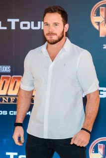 SAO PAULO, BRAZIL – APRIL 4th: CHRIS PRATT attends the Sao Paulo Fan Event of Avengers: Infinity War at Auditorio do Ibirapuera on April 4th, 2018 in São Paulo, Brazil. (Photo by Mauricio Santana /Getty Images for Marvel Studios) *** Local Caption *** Chris Pratt