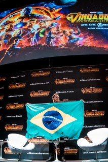 SAO PAULO, BRAZIL – APRIL 4th: (EDITORS NOTE: Image was taken with fisheye lens) CHRIS PRATT attends the Sao Paulo Fan Event of Avengers: Infinity War at Auditorio do Ibirapuera on April 4th, 2018 in São Paulo, Brazil. (Photo by Mauricio Santana /Getty Images for Marvel Studios) *** Local Caption *** Chris Pratt
