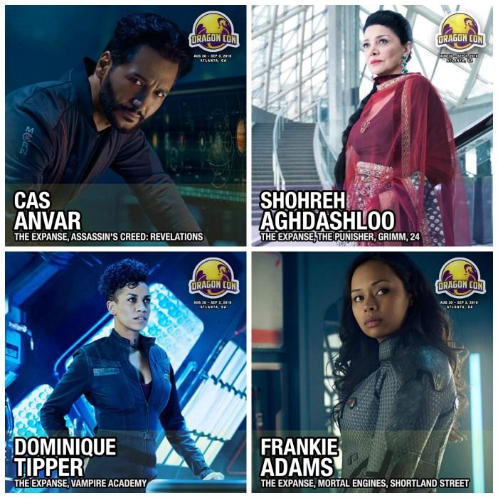 Cas & cast collage Dragoncon