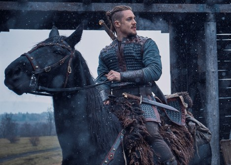 The Last Kingdom Series 3 Episode 1 Alexander Dreymon as Uhtred Uhtred prepares to ride © Carnival Film & Television Limited 2018 Orbital Strangers