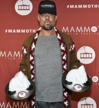 MAMMOTH LAKES, CALIFORNIA - FEBRUARY 10: Josh Duhamel poses for portrait with awards at the 2nd Annual Mammoth Film Festival on February 10, 2019 in Mammoth Lakes, California. (Photo by Michael Bezjian/Getty Images for 2019 Mammoth Film Festival)
