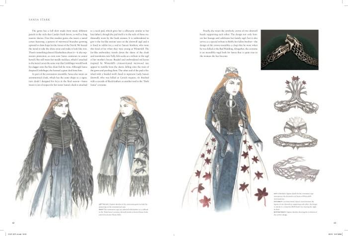 Sansa Stark costumes art