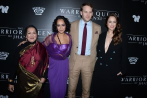 "NEW YORK, NY - NOVEMBER 13: Swati Bhise, Devika Bhise, Ben Lamb and Jodhi May attend The Wing Hosts The World Premiere Of Roadside Attractions' ""The Warrior Queen Of Jhansi"" at Metrograph on November 13, 2019 in New York. (Photo by Paul Bruinooge/PMC/PMC) *** Local Caption *** Swati Bhise;Devika Bhise;Ben Lamb;Jodhi May"