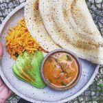 dosa - a fermented rice & dal pancake
