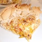 pumpkin & capsicum roasted in a cheese pie