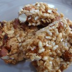apricot & almond puffed rice slice