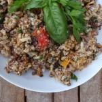 quinoa, lentils, brown rice & roasted mini capsicums