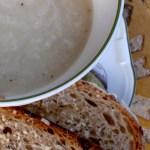 cauliflower & white bean soup